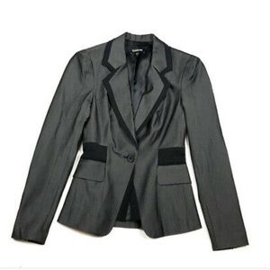 Bebe 2 xs fitted blazer jacket black gray